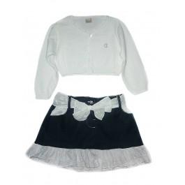 Болеро белое и юбка с воланами Ambaraba