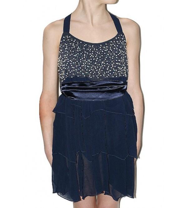 Платье DIAMANTINA вечернее с атласным поясом