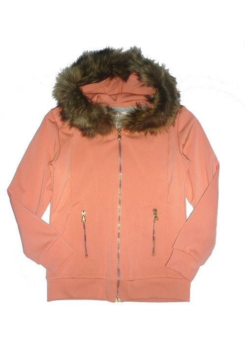 Куртка FRACOMINA персиковая на хлопковой подкладке