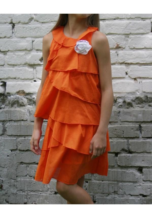 507f448e2cb Платье GAIALUNA для девочки с воланами Италия