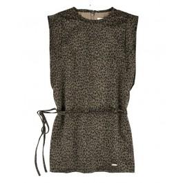 Платье LIU JO леопардовое с тонким пояском