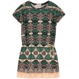 Платье LIU JO зеленое с принтом